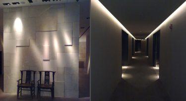 מנורות תקרה בפרויקט תאורה במלון ממילא