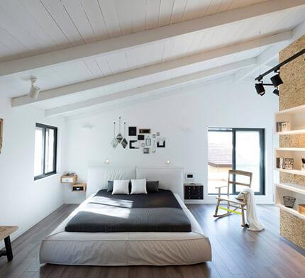 מנורות לחדר שינה קבועות לקיר