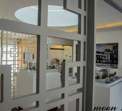 מנורות צמודי תקרה בפרויקט תאורה במשרדי משולם לווינשטין - נדלן בשוהם