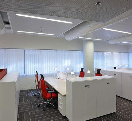 תאורה למשרדים בפרויקט תאורה של ג. בן חורין