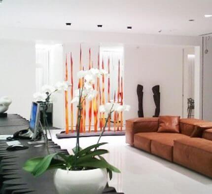 תאורה לסלון בפרויקט תאורה של מיכל קנטור