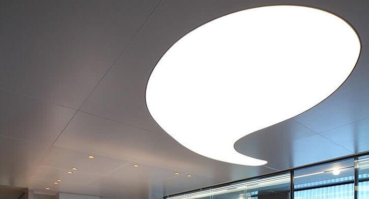 תאורה מעוצבת בפרויקט תאורה במשרד עו