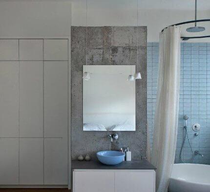 תאורה לחדר אמבטיה בפרויקט תאורה של שרון נוימן