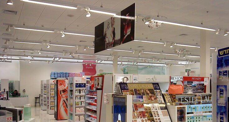 פרופילים לפוסטים בפרויקט תאורה ברשת חנויות סופר פארם