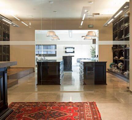 מנורות תקרה בפרויקט תאורה במשרדי ארגנטולס