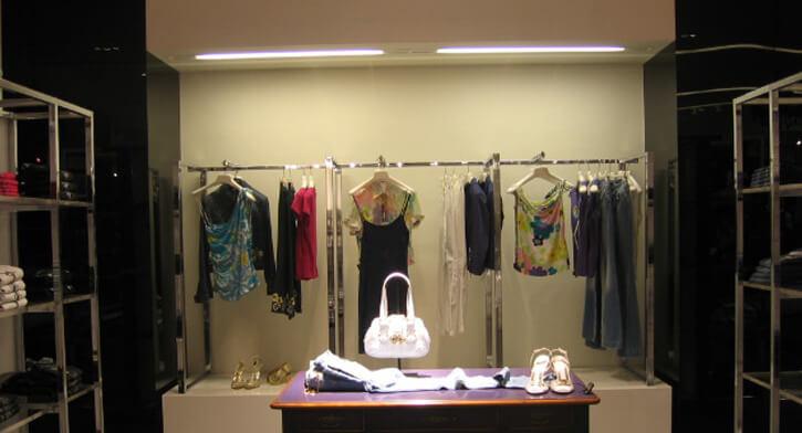 מנורות קיר בפרויקט תאורה ברשת אופנה פקטורי 54 קניון ארנה