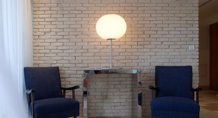 מנורות שולחן בפרויקט תאורה לבית ברמת אביב