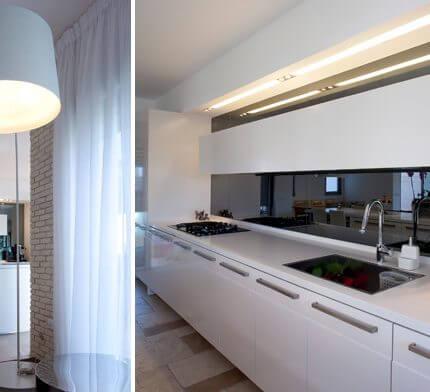 מנורות למטבח בפרויקט תאורה לבית ברמת אביב