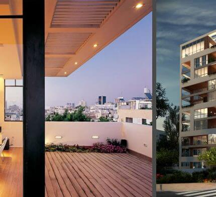 תאורה למרפסת בפרויקט תאורה של בר אוריין