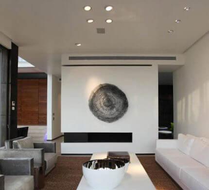 תאורה לסלון בפרויקט תאורה של גל מרום