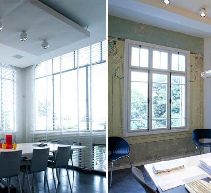 מנורות תקרה בפרויקט תאורה משרד אדריכלים בתל אביב