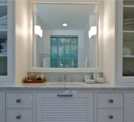 תאורה לחדר אמבטיה בפרויקט תאורה של ברוש אלון