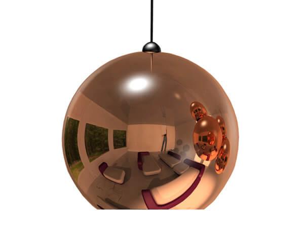 מנורות תלויות דגם COPPER SHADE של המותג הבינלאומי של גופי תאורה Tom Dixon