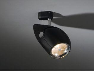 ספוטים לפסי צבירה, דגם nozzle של מותג גופי תאורה בינלאומי Modular שחור