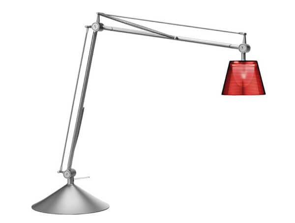 מנורות שולחן דגם ARCHIMOON K של המותג הבינלאומי לגופי תאורה flos אדום