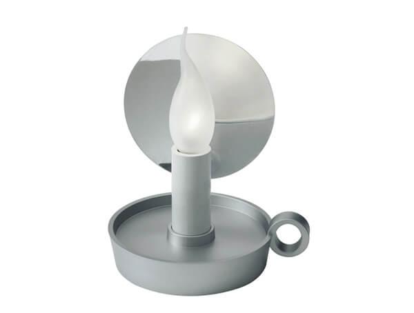 מנורות שולחן דגם B.L.O של המותג הבינלאומי לגופי תאורה flos כסוף