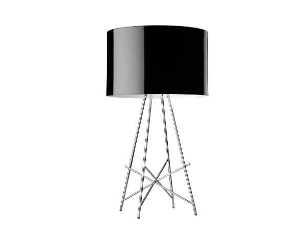 מנורות שולחן דגם RAY T של המותג הבינלאומי לגופי תאורה flos שחור