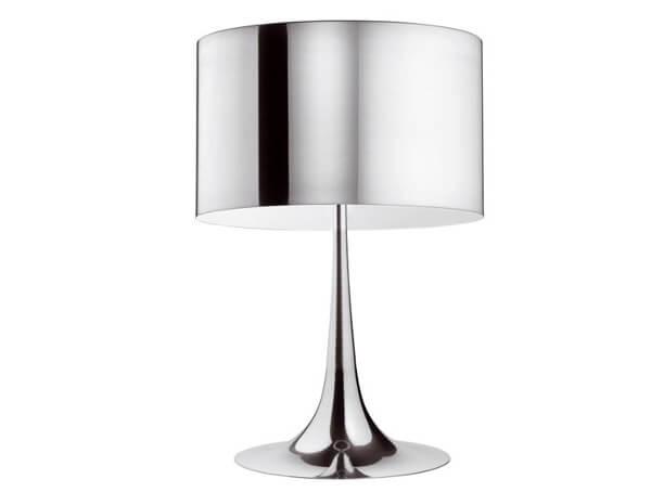 מנורות שולחן דגם SPUN LIGHT T של המותג הבינלאומי לגופי תאורה flos כסוף
