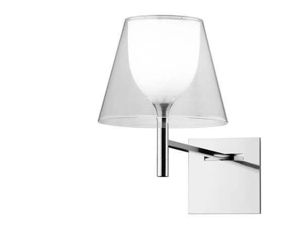מנורות צמודות דגם KTRIBE W של המותג הבינלאומי לגופי תאורה flos כסוף