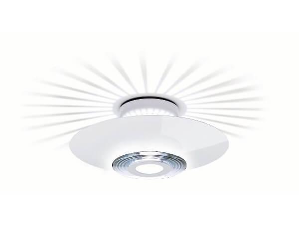 מנורות צמודות דגם MONI של המותג הבינלאומי לגופי תאורה flos כסוף