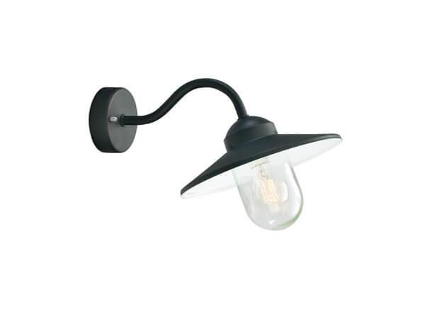 תאורת חוץ מוגני מים דגם 230 של מותג תאורה Norlys שחור