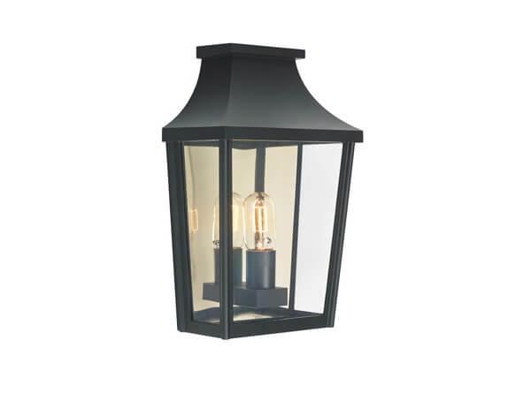 תאורת חוץ מוגני מים דגם 497 של מותג תאורה Norlys שחור