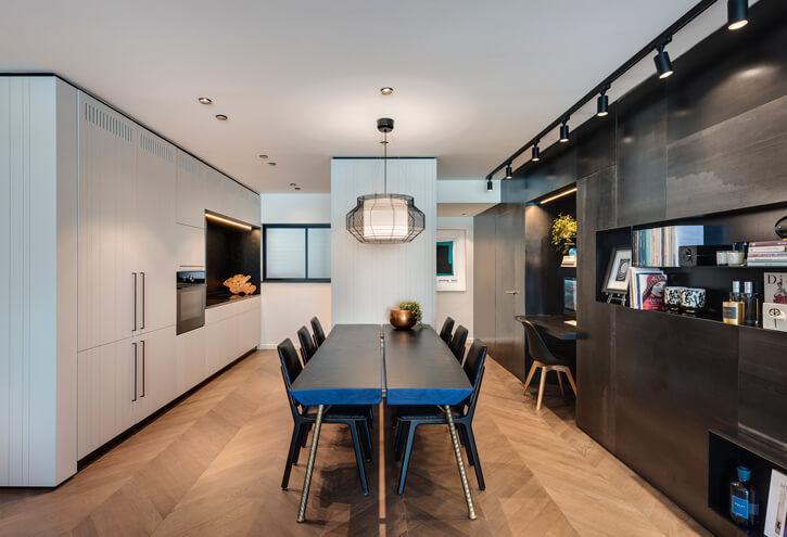 תאורה למטבח בפרויקט קושמירסקי אדריכלים