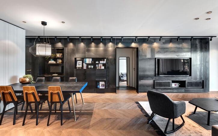 מנורות תקרה בפרויקט קושמירסקי אדריכלים