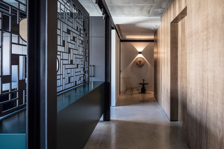 מנורות תקרה בפרויקט יעקבס יניב אדריכלים