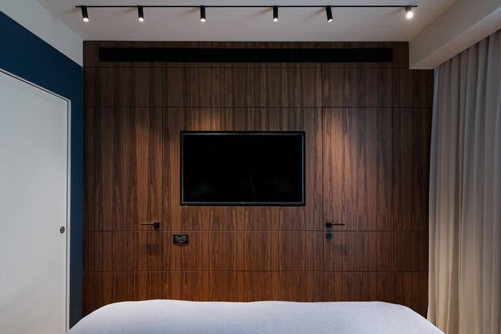 תאורה לחדר שינה בפרויקט רענן שטרן