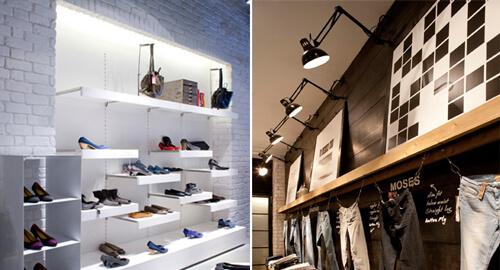 מנורות תליה לחנויות