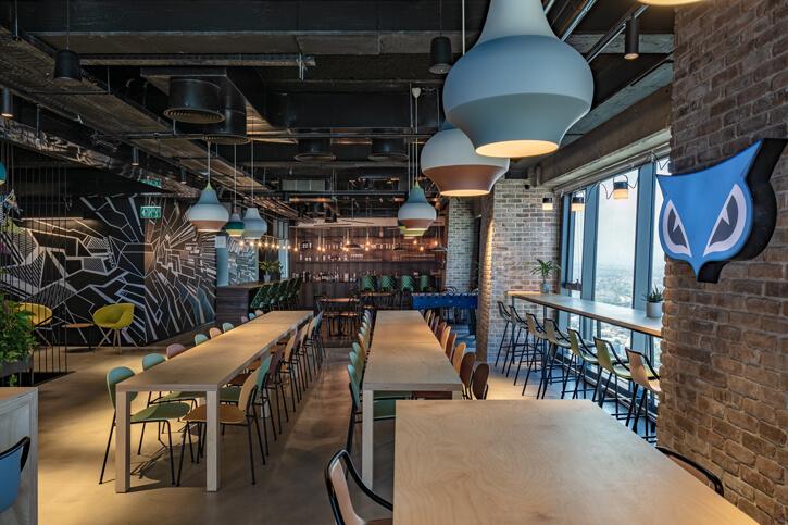 גופי תאורה למסעדות בפרוייקט סייבר רייזן