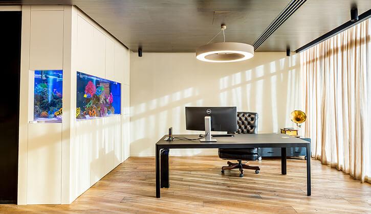 מנורות למשרד בפרויקט סוכנות ביטוח אמנון גור