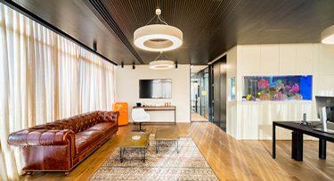 מנורות תקרה בפרויקט סוכנות ביטוח אמנון גור
