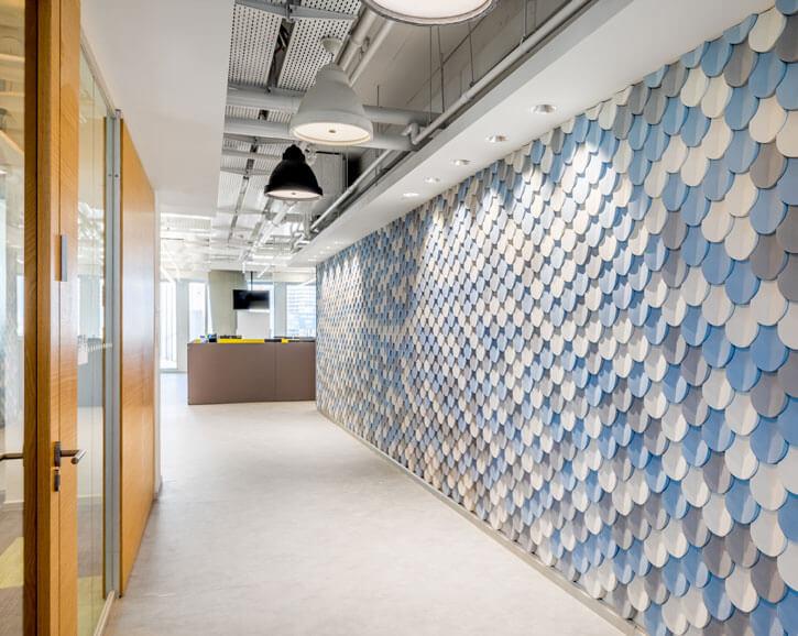 גופי תאורה למשרדים בפרוייקט נילסן