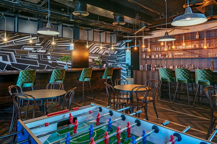 תאורה למסעדות בפרוייקט סייבר רייזן
